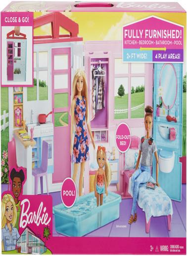 Barbie Barbienin Taşınabilir Portatif Evi Renkli